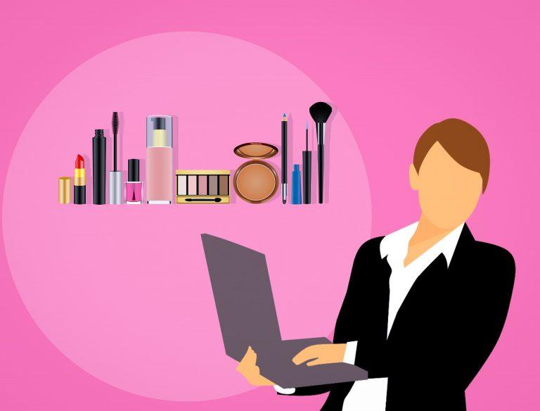 Makeup Cosmetics Perfume Selling Business Woman