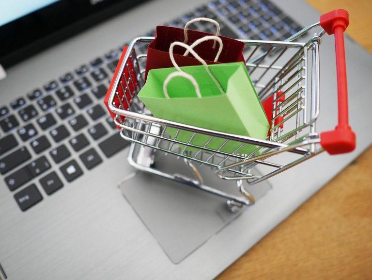Shopping Cart Shopping Laptop Supermarket